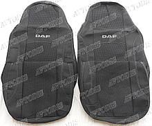 Авточехлы DAF XF 105 1+1 2005- (серый) VIP ЛЮКС Nika