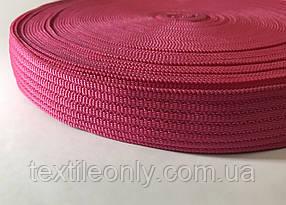Тасьма сумочная щільна колір малинова 40 мм