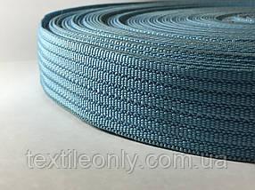 Тасьма сумочная щільна колір блакитний 40 мм