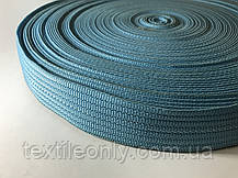 Тесьма сумочная плотная цвет голубой 40 мм, фото 3
