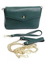 Клатч женский кожаный зеленый NO-1637 Green, фото 1