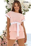 Женский летний костюм с шортами 1125 Дм Код:993831906, фото 1