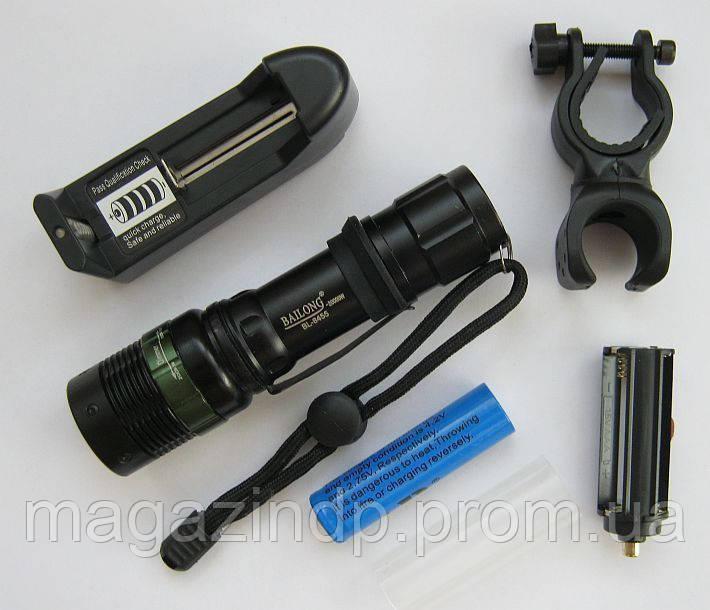 Фонарик  BL8455 20000W(аккумулятор, зарядка,упаковка,велокрепёж) Код:475254057
