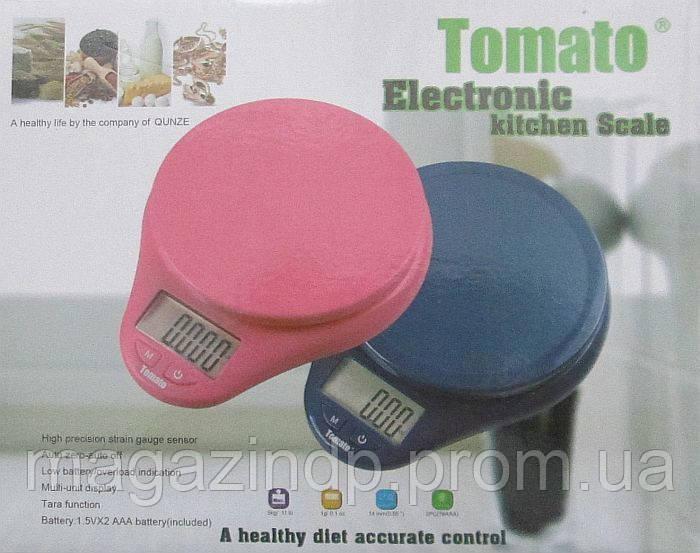 Кухонные весы Tomo 116 до 5 кг с подсветкой Код:500279418
