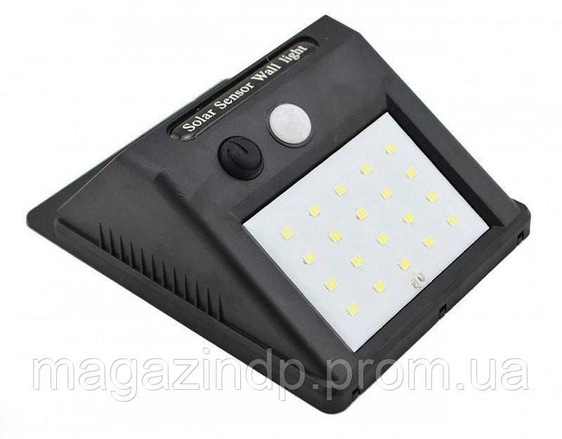 Уличный фонарь с датчиком движения на солнечной батарее 609-20, black Код:973547053