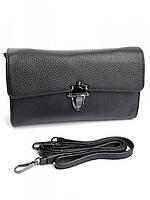 Клатч женский кожаный черный NO-A70895 Black, фото 1