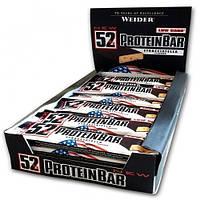 Протеиновый батончик Weider 52% Protein bar 50 g Stracciatella 24 шт