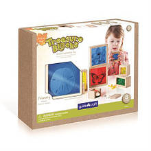 Набор блоков Guidecraft Natural Play Сокровища в ящиках разноцветный