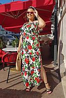 Длинный сарафан Розы Большого размера