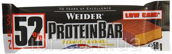Протеиновый батончик Weider 52% Protein bar 50 g Peanut-caramel