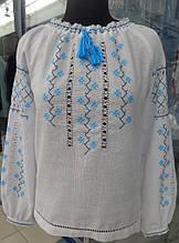 """Нежная женская вышитая рубашка """"Снежинка"""". Мережка разных техник."""