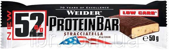 Протеиновый батончик Weider 52% Protein bar 50 g Stracciatella