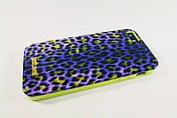 Чехол Just Cavalli iPhone 5 5S Силикон Противоударный Желтый леопард