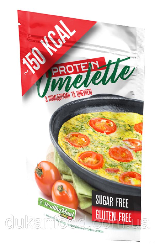 Омлет протеиновый с помидорами и луком, Power Pro