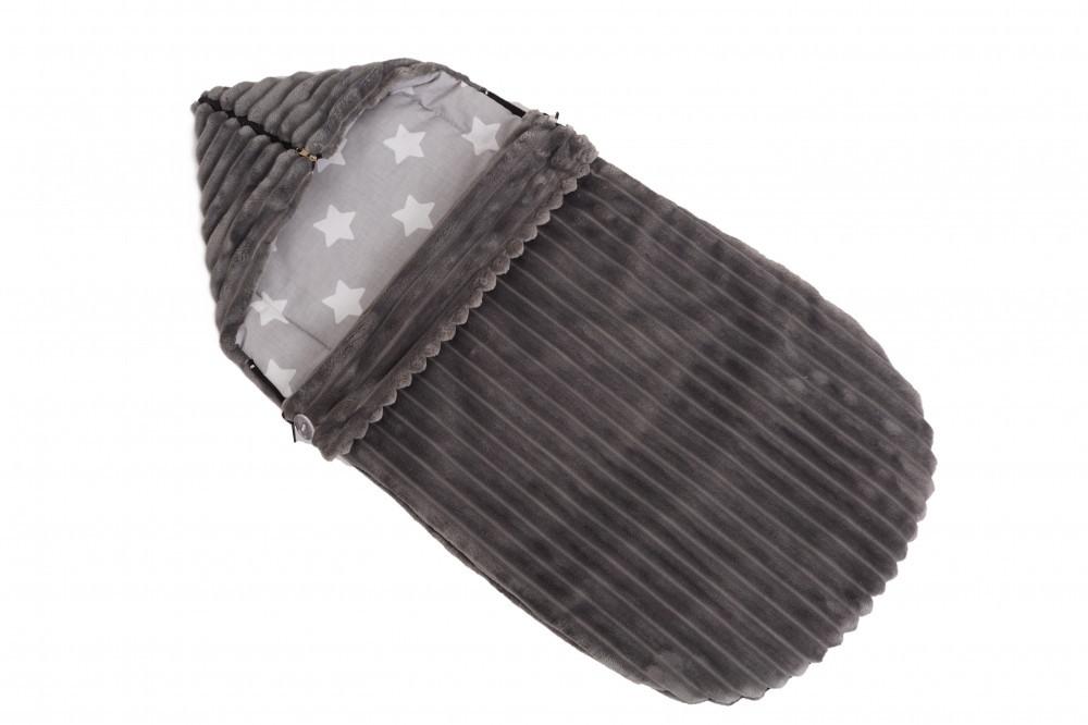 Конверт в коляску, для виписки Twins Trip dark grey темно сірий до 6 міс (конверт твінс тріп)
