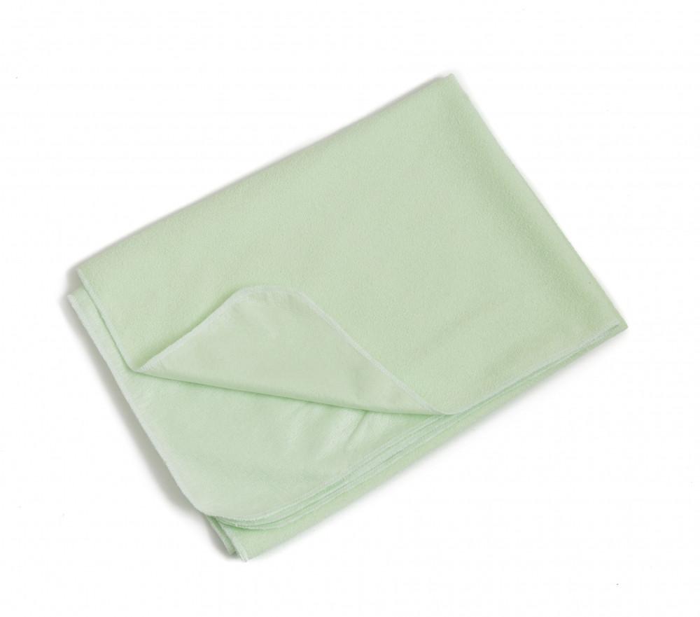 Клеенка Twins 70/100 зеленая (махровая непромокаемая двусторонняя пеленка)
