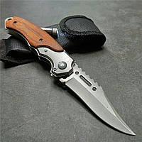 Нож складной Doom Blade200 мм 57HRC сталь 5Cr15Mov с светодиодом. Карманный, тактический, на кнопке+ чехол