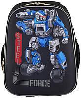 """Рюкзак школьный каркасный 1 Вересня H-12 """"Steel Force"""""""