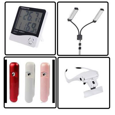 Гігрометри, лампи, небулайзери, оптика