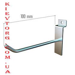 Крючок для экономпанели (экспопанели) в торговый магазин хромированный, d= 4 мм, 10 см