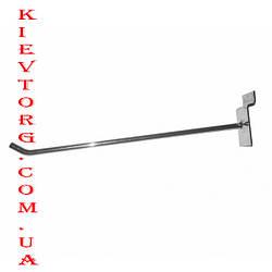 Крючок для экономпанели  (экспопанели) в торговый магазин хромированный, d= 4 мм, 20 см
