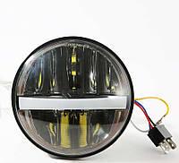 Фара головного світла LED 5,75 (144mm), 9-32 В, 5000К, 42 Вт, мотофара, 5,45 дюймів DL-Н502 (Black)