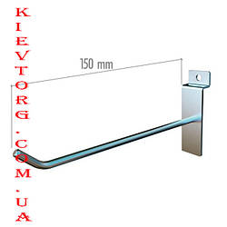 Крючок для экономпанели (экспопанели) в торговый магазин хромированный, d= 6 мм, 15 см