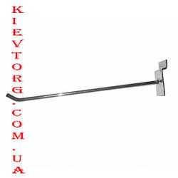 Крючок для экономпанели (экспопанели) в торговый магазин хромированный, d= 6 мм, 30 см