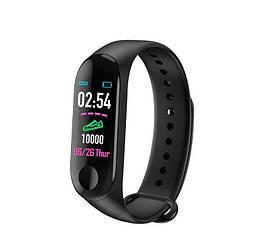 Фитнес-браслет M3 Plus Smart Bracelet Умные часы Черные