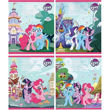 """Зошит 12 арк. КОСА лінія """"KITE"""" / Little Pony, фото 2"""