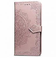 Чехол-книжка Art Case с визитницей для Xiaomi Redmi Note 5 Pro / Note 5 (AI Dual Camera) Rose Gold