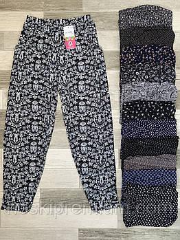 Cултанки, брюки галифе женские цветные бамбук Ласточка (баталы), с карманами, размер 50-56, А401-2