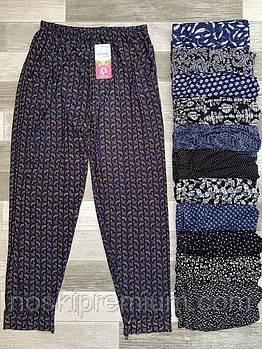 Cултанки, брюки галифе женские цветные бамбук Ласточка (баталы), с карманами, размер 50-56, А401-1