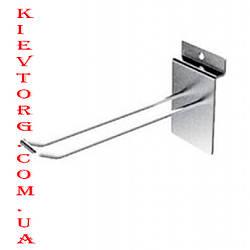 Крючок двойной для экономпанели (экспопанели) в торговый магазин хромированный, d= 5 мм, 15 см
