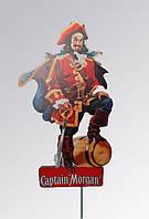 Двухсторонняя рекламная вывеска-стенд Captain Morgan 155см! (Капитан Морган) Б/У
