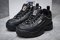 Женские кроссовки в стиле Fila Disruptor 2, черные 36 (22 см)