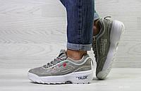 Женские кроссовки в стиле Fila Disruptor 2 Yalor, серые 36 (23,2 см)