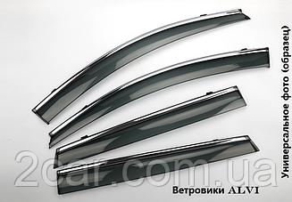 Дефлекторы окон ALVI для Mazda CX5 2017- Хром. Молдинг