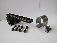 """Прицельная планка пикатинни 130mm """"Скорпион"""" (центральная) на АК, РПК - Picatinny Weaver rail ak.АК47, АК74"""