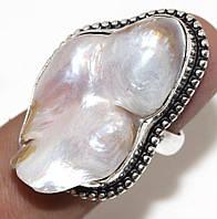 """Жемчужное кольцо  """"Море"""" с  жемчугом, размер 18,6  от студии LadyStyle.Biz, фото 1"""