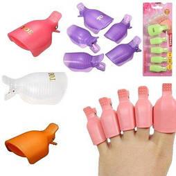 Набор зажимов для снятия гель-лака пальцев ног, 5 ШТ