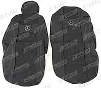 Чехлы автомобильные Mercedes-Benz Atego 1+1 2005- (тёмно-серые) VIP ЛЮКС Nika