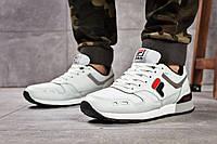 Мужские кроссовки в стиле Fila, текстиль, замша, пена, белые 43 (27,5 см)