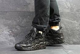 Мужские кроссовки в стиле Nike Air Uptempo 96 Black, черные 41 (26,5 см)
