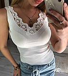 Красивая Майка Женская с кружевом, фото 9