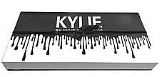 Набор стойких жидких матовых помад разных оттенков для макияжа губ Kylie Black 12 штук | Кайли (Реплика), фото 3