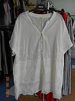 Біла батистовая сорочка з дорогими мереживами Aj-Sel, фото 1