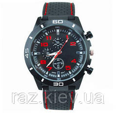 Мужские наручные часы GT Grand Touring спортивные (F1 Speed Racer Men Sport) красные цифры