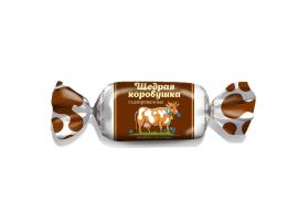 """Белорусские конфеты """"Щедрая коровушка"""" глазированные Красный Мозырянин"""