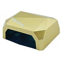 УФ лампа для наращивания ногтей на 36 Вт Beauty nail CCF + Led сенсор гель, лак Золотой
